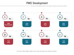 PMO Development Ppt Powerpoint Presentation Model Slides Cpb
