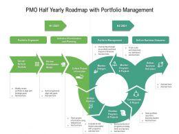 PMO Half Yearly Roadmap With Portfolio Management