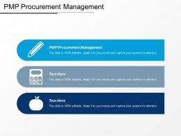 Pmp Procurement Management Ppt Powerpoint Presentation Gallery Infographic Template Cpb