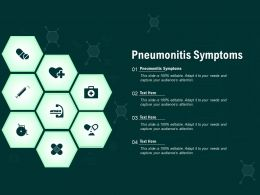 Pneumonitis Symptoms Ppt Powerpoint Presentation Infographics Structure