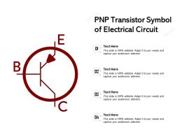 PNP Transistor Symbol Of Electrical Circuit