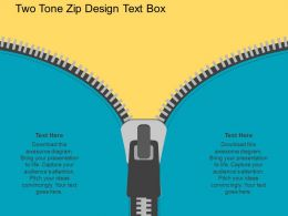 po Two Tone Zip Design Text Boxes Flat Powerpoint Design