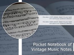 Pocket Notebook Of Vintage Music Notes