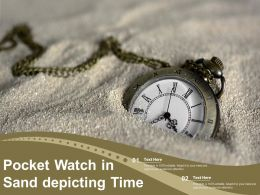 Pocket Watch In Sand Depicting Time