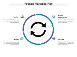 Podcast Marketing Plan Ppt Powerpoint Presentation Professional Master Slide Cpb