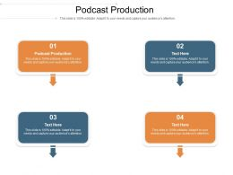 Podcast Production Ppt Powerpoint Presentation Infographic Template Show Cpb
