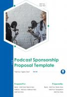 Podcast Sponsorship Proposal Example Document Report Doc Pdf Ppt