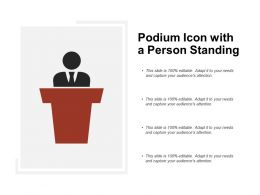 Podium Icon With A Person Standing