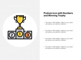 Podium Icon With Numbers And Winning Trophy
