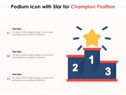Podium Icon With Star For Champion Position