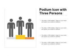 Podium Icon With Three Persons