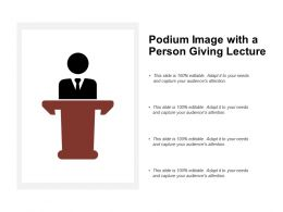 Podium Image With A Person Giving Lecture