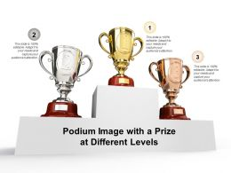 Podium Image With A Prize At Different Levels