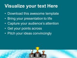 Podium With Golden Silver Trophy Reward Powerpoint Templates Ppt Themes And Graphics 0113