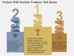 Podium With Number Positions Text Boxes Flat Powerpoint Design