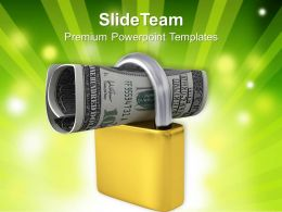 Podlock And Us Dollar Investment Concept Powerpoint Templates Ppt Themes And Graphics