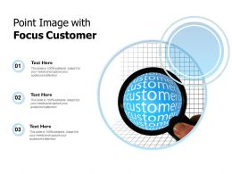 Point Image With Focus Customer