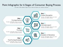 Point Infographic For 6 Stages Of Consumer Buying Process