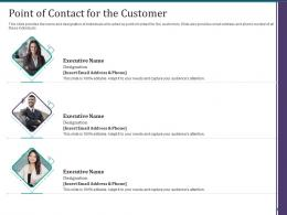 Point Of Contact For The Customer Customer Onboarding Process Optimization