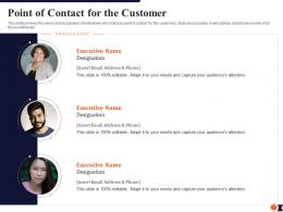 Point Of Contact For The Customer Process Redesigning Improve Customer Retention Rate Ppt Tips