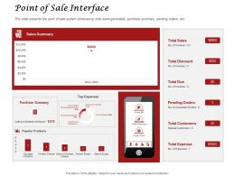 Point Of Sale Interface Ppt Powerpoint Presentation Visual Aids Inspiration