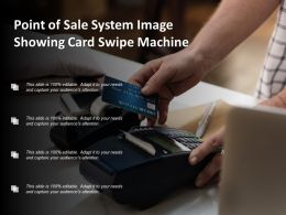 Point Of Sale System Image Showing Card Swipe Machine