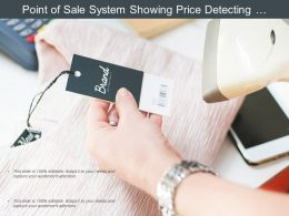 Point Of Sale System Showing Price Detecting Machine