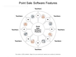 Point Sale Software Features Ppt Powerpoint Presentation Gallery Infographics Cpb