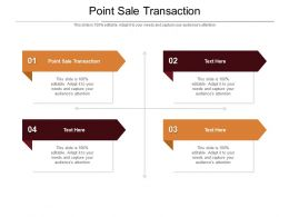 Point Sale Transaction Ppt Powerpoint Presentation Outline Graphics Pictures Cpb