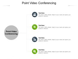 Point Video Conferencing Ppt Powerpoint Presentation Layouts Design Ideas Cpb