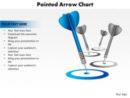 pointed arrow darts thrown on ground into bullseyes chart powerpoint templates 0712