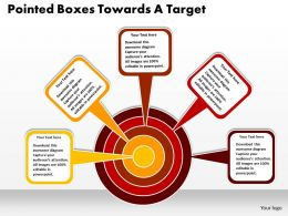 Pointed Boxes Towards A Target Powerpoint Templates ppt presentation slides 812