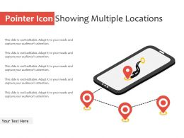 Pointer Icon Showing Multiple Locations
