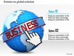 Pointer On Global Solution Image Graphics For Powerpoint