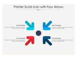 Pointer Scroll Icon With Four Arrows