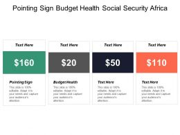 Pointing Sign Budget Health Social Security Africa Schools Cpb