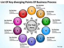 points business powerpoint theme process Relative Circular Flow Arrow Diagram Slides