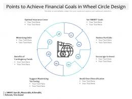 Points To Achieve Financial Goals In Wheel Circle Design