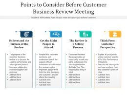 Points To Consider Before Customer Business Review Meeting