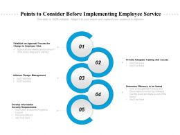 Points To Consider Before Implementing Employee Service