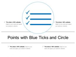 Points With Blue Ticks And Circle