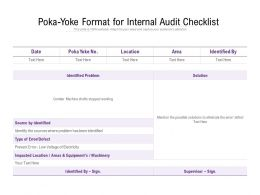 Poka Yoke Format For Internal Audit Checklist