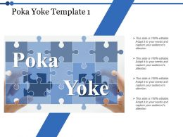 Poka Yoke Puzzle Ppt Powerpoint Presentation File Diagrams