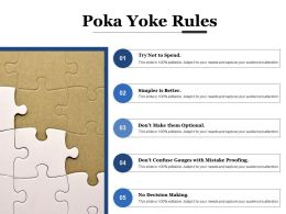 Poka Yoke Rules Decision Making Ppt Powerpoint Presentation File Influencers