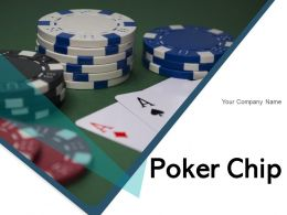 Poker Chip Individual Making Placed Roulette Beside
