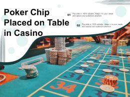 Poker Chip Placed On Table In Casino