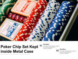 Poker Chip Set Kept Inside Metal Case