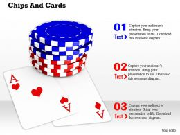 Poker Chips On Aces For Objective To Win