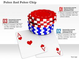 Poker Chips On Playing Cards To Win Game