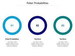 Poker Probabilities Ppt Powerpoint Presentation Model Ideas Cpb